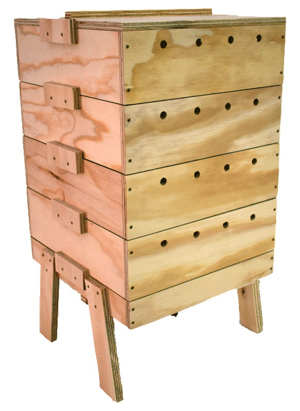 stackable wooden wormery vermibuk for sale